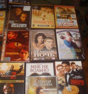 Фильмы лицензионные на дисках DVD 50 штук