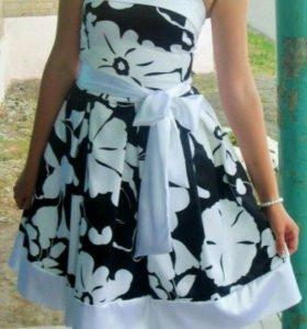 Платье выпускное коктельное