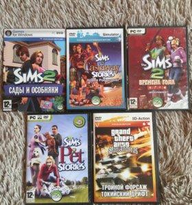 Sims 2 и дополнения + gta