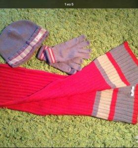 Шапка шарф перчатки Гуливер