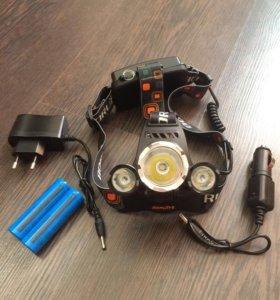 Сверх мощный фонарь Boruit rj-3000