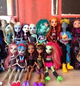 Продам кукол Monster High и Ever After High. 16 шт