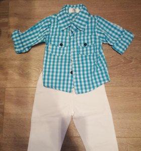 Модный комплект на мальчика (брюки и рубашка)