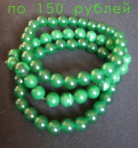 Новые браслеты из малахита