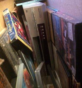 Видеомагнитофон и DVD -проигрыватель