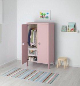 Детский платяной шкаф, розовый
