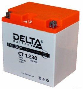 Аккумулятор для квадроцикла скутера Delta CT 1230