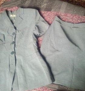 Костюм юбка пиджак жакет
