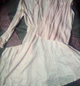 Платье накидка подъюбик 80х гг.