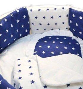 22 предмета комплект в кроватку новорожденному