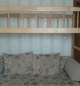Двухъярусная кровать детская деревянная