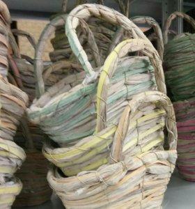 Плетеное кашпо