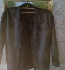 Кожана куртка из кожы свинины