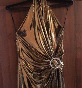 Новое золотое платье
