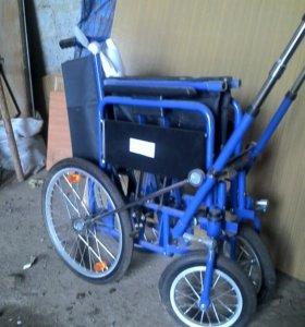 Кресло-коляска KY873, с рычажным приводом.Новая.