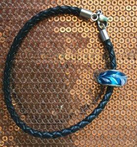 Кожаный браслет с шармом sunlight