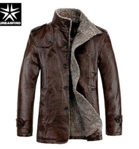 Продам новую кожаную куртку с мехом