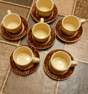Кофейный сервиз на шесть персон