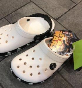 Новые Crocs , размер j3=34 размер