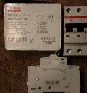 Автоматический выключатель ABB 3-полюсный S203 C16