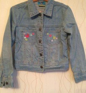 Куртка джинсовка для девочки 116-122