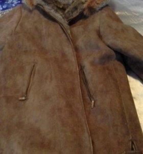 Дубленка кожанная женская замша размер 54-56