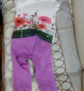 Комплект джинсовка, брюки , футболка