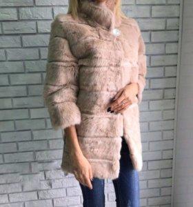 шуба из кролика пальто куртка норковая шуба