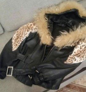 Куртки из натуральной кожи с натуральным мехом