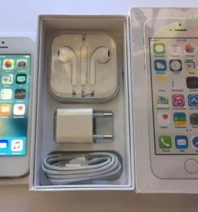 iPhone 5s 16gb silver (как новый)