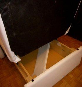Кресло кожаное белое - кровать