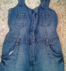 Сарафан стильный джинсовый