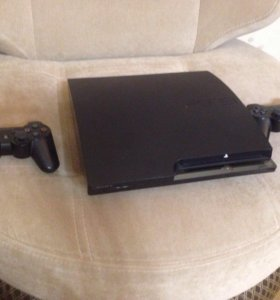 PlayStation Slim. 120 GB. 3 контроллера.