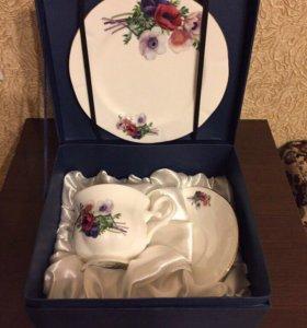 Чайная пара с десертной тарелочкой