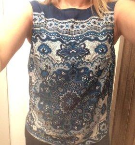 Блузка футболка синяя