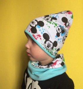 Детская шапка снуд(хомут)