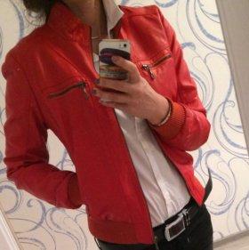 Куртка кожаная!!!Новая