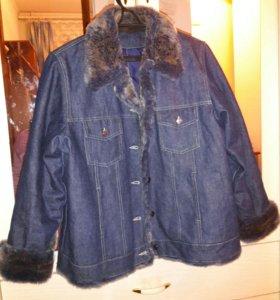 Джинсовая утепленная куртка
