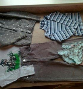 Кофточки, брюки, теплый кардиган на 116