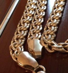 Цепь мужская серебряная новая