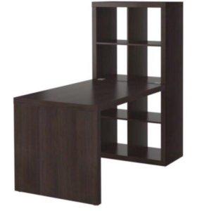 Комбинация ИКЕЯ стол+стеллаж