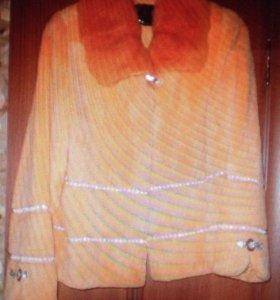Куртка стриженная норковая, стразы