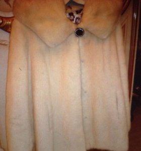 Шуба – куртка норковая цельная, Белая