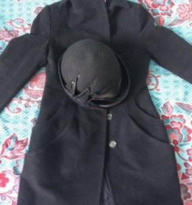 Шерстяное пальто (Россия) в подарок шляпка 😀
