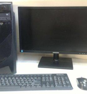 Игровой 8ми ядерный компьютер с монитором 22 дюйма