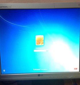 Монитор LG Flatron L1717S и системный блок