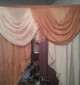 Тюль+ шторы с ламбригенами