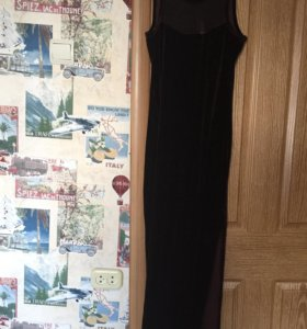 Платье бархатное в пол