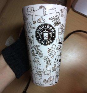 "Кружка starbucks ""star bart coffee"" Simpsons"