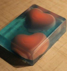 """Мыло  ручной работы """"Два сердца"""""""